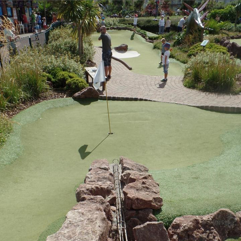 Beautifully landscaped mini golf course