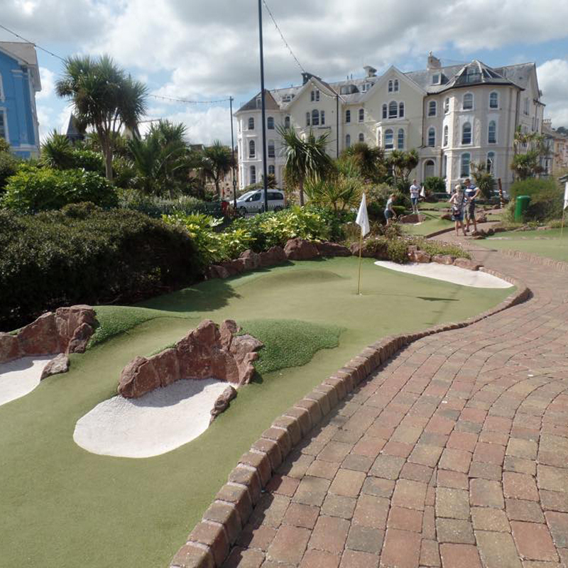 12 hole Dinosaur themed mini golf course
